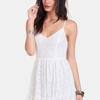 White Noise Lace Dress
