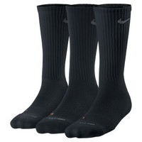 The Nike Dri-FIT Cushioned Crew Kids' Socks (Medium/3 Pair).