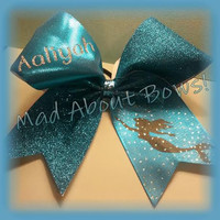 Mermaid Cheer Bow Disney's Little Mermaid / Ariel Inspired ~~Personalized!!