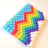 Rainbow Chevron Wallet, Zipper Pouch, Kawaii Wallet, Kandi Purse, Kawaii Accessories