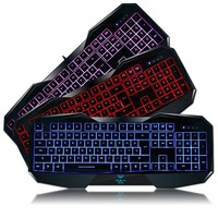 AULA BE FIRE 3 Colors LED Backlit Expert Gaming Wired Keyboard