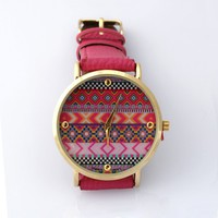 Aztec lovely pink watch