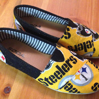 Pittsburgh Steeler Shoes- Glitery Gold- BOBS are Included in price