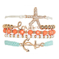 Nautical Friendship Bracelet Set | Wet Seal
