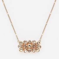 LC Lauren Conrad Gold Tone Simulated Crystal Necklace