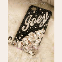 iPhone 5S case, iphone 5c case, iPhone 5 case, iPhone 4 case, custom iphone 4 case, custom iphone 5c case, bling name initial iphone 5 case