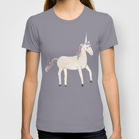 Unicorn Pattern on Pastel Purple T-shirt by Tangerine-Tane