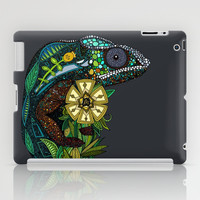 chameleon pewter iPad Case by Sharon Turner