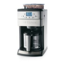 Saeco 12-Cup Automatic Drip Coffee Maker with Glass Carafe and Burr Grinder, Stainless Steel
