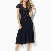 Helene Silk Pintuck Dress - New Arrivals   Dresses - RalphLauren.com