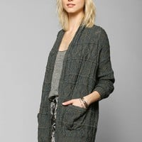Left On Houston Textured Stripe Cardigan - Urban Outfitters