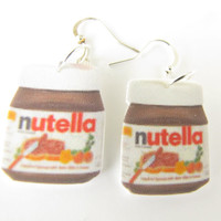 Nutella Earrings--food,fun,peanut butter