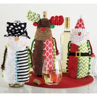 Mud Pie Holiday Wine Bottle Covers
