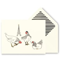 Kate Spade Three French Hens Holiday Cards