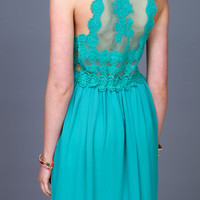 ROMANTIC LACY MIDI DRESS