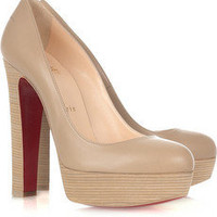 Christian Louboutin | Bibi 140 leather platform pumps | NET-A-PORTER.COM