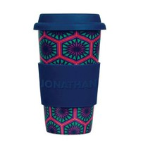 Jonathan Adler Positano Hexagons On the Go Coffee Mug