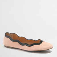 Factory suede scalloped ballet flats - Shoes - FactoryWomen's New Arrivals - J.Crew Factory