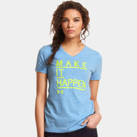 Women's UA Make It Happen Tri-Blend V-Neck