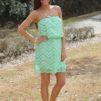 Island Daze Tube Dress, Mint
