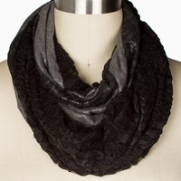 TWO SIDE LEOPARD LACE ETERNITY SCARF