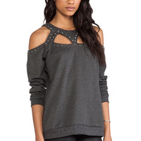 Evil Twin Defensive Studded Cut Out Sweater in Charcoal from REVOLVEclothing.com