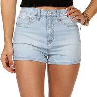 Lt. Denim High Rise Shorts