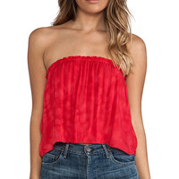 Indah Star Strapless Tube Top in Pink Salt from REVOLVEclothing.com