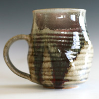 Large Twisted Coffee Mug, 25 oz, handmade ceramic cup, ceramic stoneware mug, coffee cup