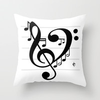 Love Music II Throw Pillow by RichCaspian