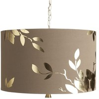 Gold Leaf Pendant Lamp