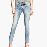 H&M - Skinny Low Jeans - Pale denim blue - Ladies