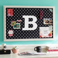 Monogram Black Dottie Framed Pinboard
