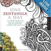 One Zentangle A Day: A 6-Week Course in Creative Drawing for Relaxation, Inspiration, and Fun (One A Day) Paperbackby Beckah Krahula (Author)