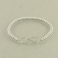 Silver Crystal Infinity Bracelet from P.S. I Love You More Boutique