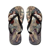 Vintage Retro Art Nouveau Mucha 11 Flip Flops> Flip Flops> Beautiful Homes