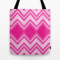 Chevron Chase Series Tote Bag by Pop E. Carp