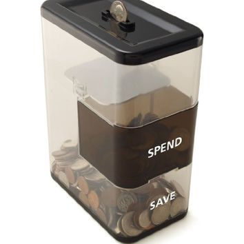 Perfect Solutions Save/Spend Bank, Black