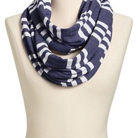 Women's Striped-Jersey Infinity Scarves