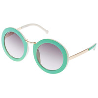 ROMWE Green Frames Sunglasses(Arrival until Feb.28th)