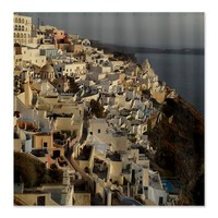 Santorini Fira Shower Curtain> Shower Curtains> Beautiful Homes