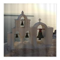 Santorini Oia Bells Shower Curtain> Shower Curtains> Beautiful Homes