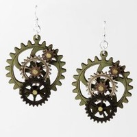 Wooden Wheels Earrings