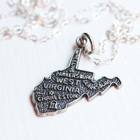 State Charm Necklace - West Virginia