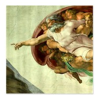 Michelangelo's Sistine Chapel - Genesis God> Shower Curtains> Beautiful Homes