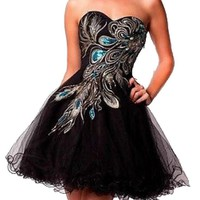 Short Homecoming Sexy Graduation Party Ball Bridesmaid Dress Figure Color 16