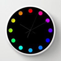 clock dots - color option black Wall Clock by Steffi by findsFUNDSTUECKE