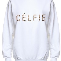 LOVE White Leopard 'Celfie' Sweater