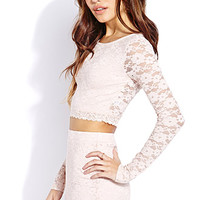 Sweet Side Lace Crop Top