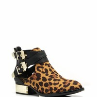 Full Plate Leopard Booties
